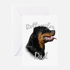 Rottweiler Dad2 Greeting Card