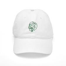 Lion Mascot (Green) Baseball Cap