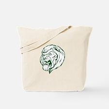 Lion Mascot (Green) Tote Bag