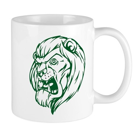 Lion Mascot (Green) Mug