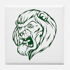 Lion Mascot (Green) Tile Coaster