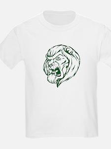 Lion Mascot (Green) T-Shirt