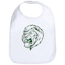 Lion Mascot (Green) Bib