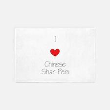 I Love Chinese Shar-Peis 4' X 6' Rug