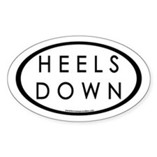 Heels Down (#3b) Euro Oval Car Oval Decal