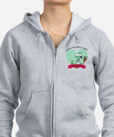 Snoopy Nursing - Personalized Zipped Hoody