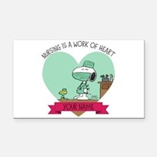 Snoopy Nursing - Personalized Rectangle Car Magnet