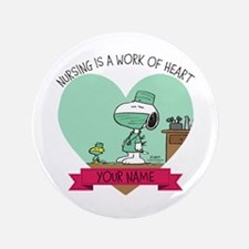 Snoopy Nursing - Personalized Button