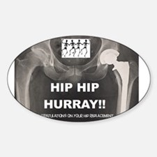 Hip Hip Hurray on your Hip Replacement Decal