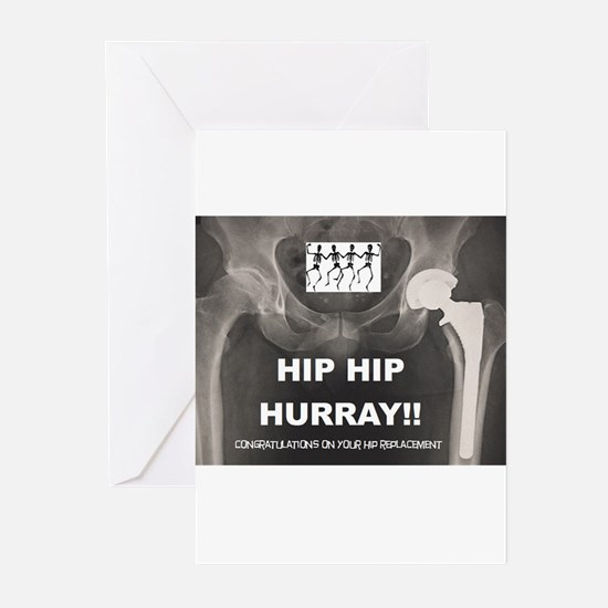 Hip Hip Hurray on your Hip Replacem Greeting Cards