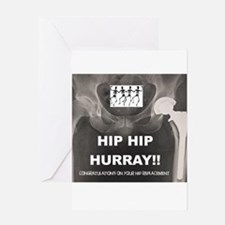 Hip Hip Hurray on your Hip Replacem Greeting Cards