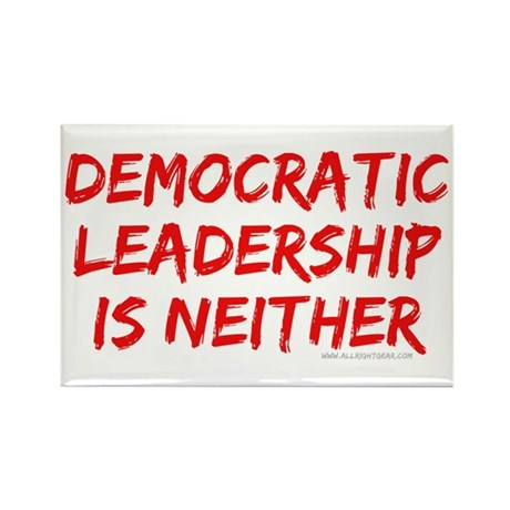 Democratic Leadership Rectangle Magnet