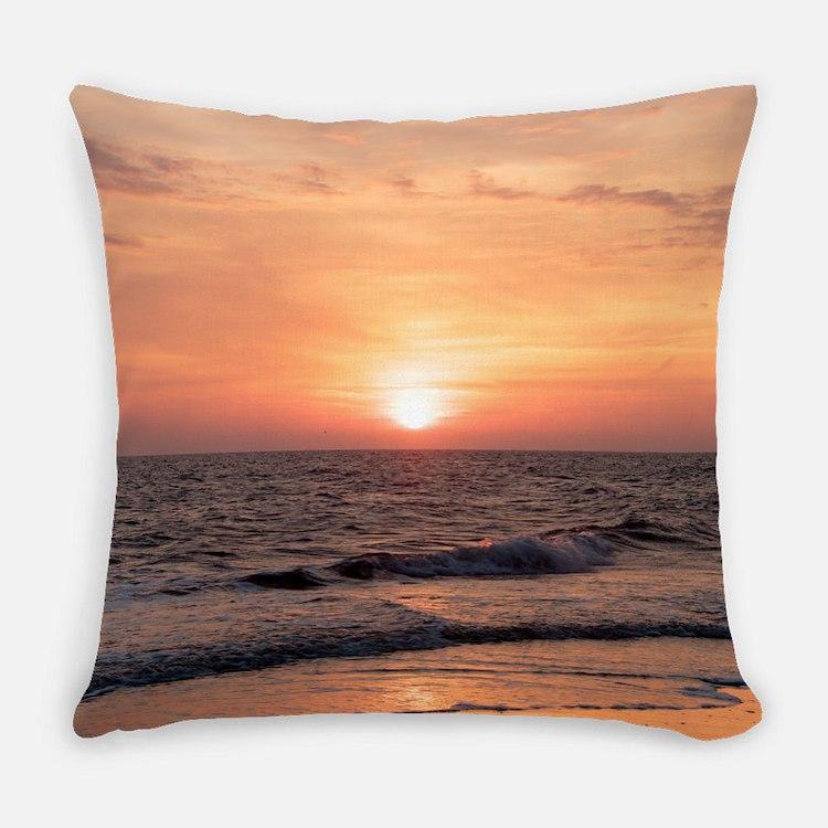Cute Calm ocean waves Everyday Pillow