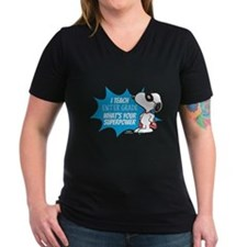 Snoopy Teacher - Perso Women's V-Neck Dark T-Shirt