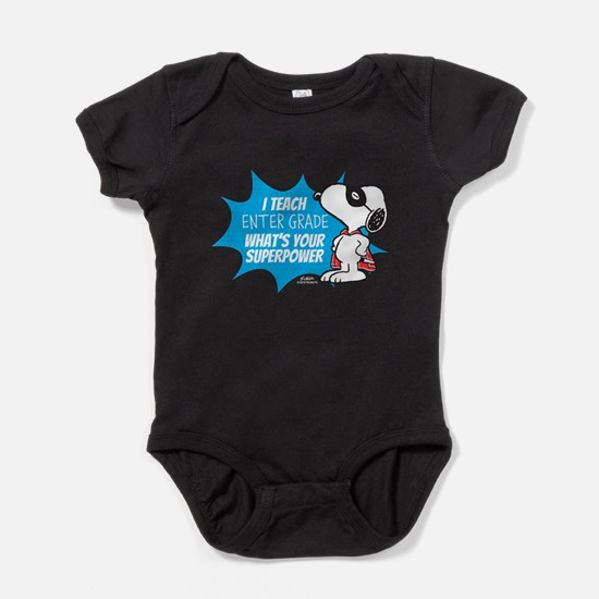 Snoopy Teacher - Personalized Baby Bodysuit