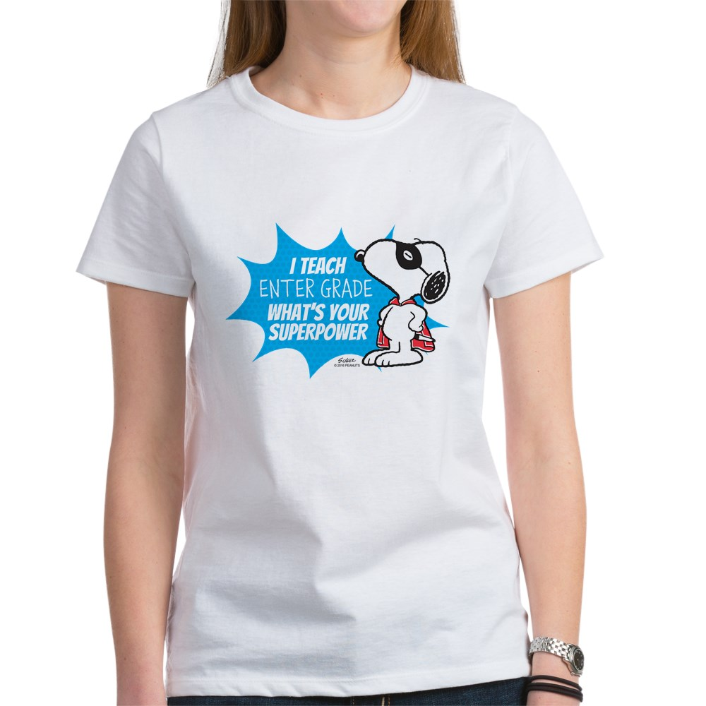 CafePress Snoopy Teacher - Personalized Tee