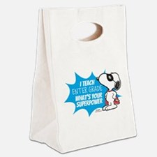 Snoopy Teacher - Personalized Canvas Lunch Tote