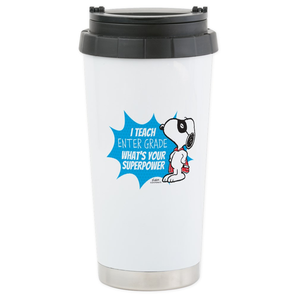 CafePress Snoopy Teacher - Person Travel Mug