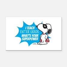 Snoopy Teacher - Personalized Rectangle Car Magnet