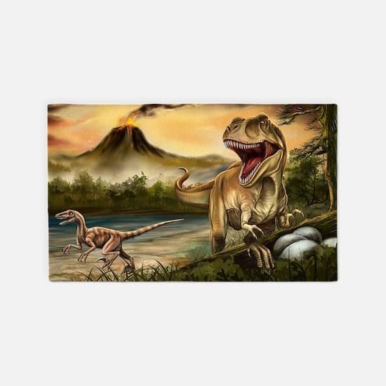 Predator Dinosaurs Area Rug
