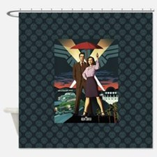 Agent Carter Hollywood Shower Curtain