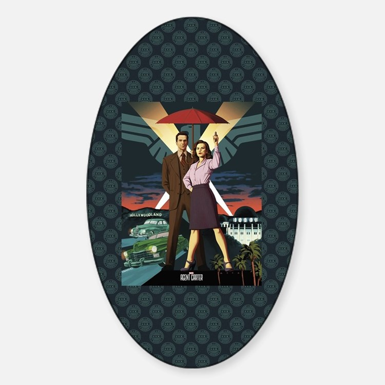 Agent Carter Hollywood Sticker (Oval)