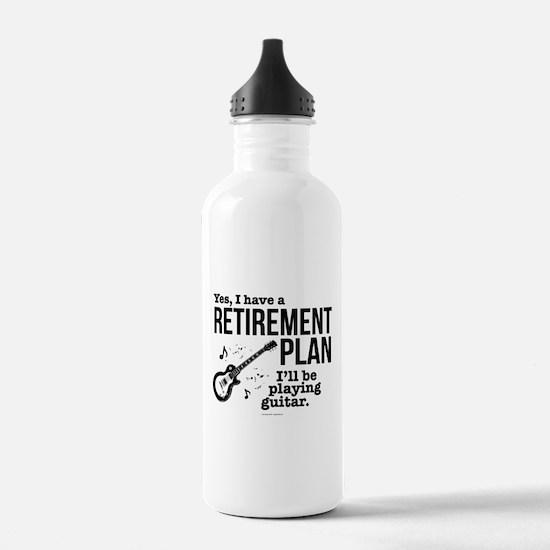 Guitar Retirement Plan Water Bottle