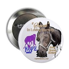 "Unique Abused horse 2.25"" Button (10 pack)"