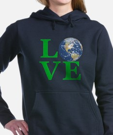 Love Earth Women's Hooded Sweatshirt
