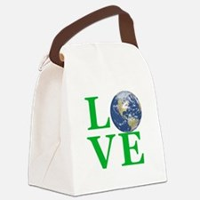 Love Earth Canvas Lunch Bag