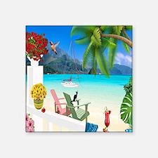 """Cute Oceanside Square Sticker 3"""" x 3"""""""