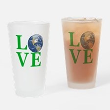 Love Earth Drinking Glass
