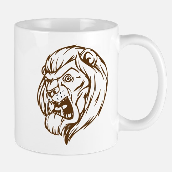Lion Mascot (Brown) Mug