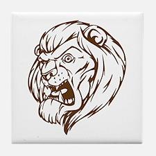 Lion Mascot (Brown) Tile Coaster