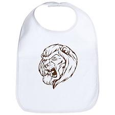 Lion Mascot (Brown) Bib