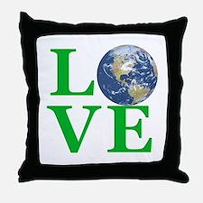 Love Earth Throw Pillow