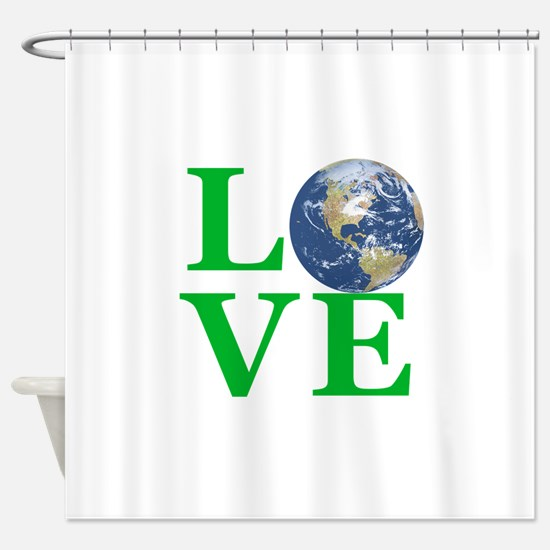 Love Earth Shower Curtain