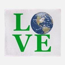 Love Earth Throw Blanket