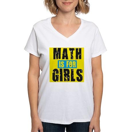 Math for girls Women's V-Neck T-Shirt