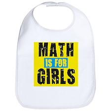 Math for girls Bib