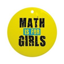 Math for girls Ornament (Round)