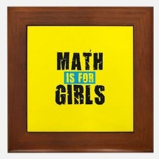Math for girls Framed Tile