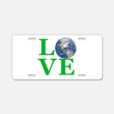 Love Earth Aluminum License Plate
