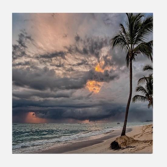 Palms At Sunset Tile Coaster