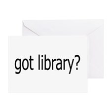 got library? Greeting Card