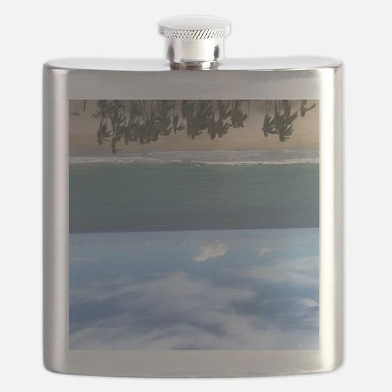 Cool Puerto rico beach Flask