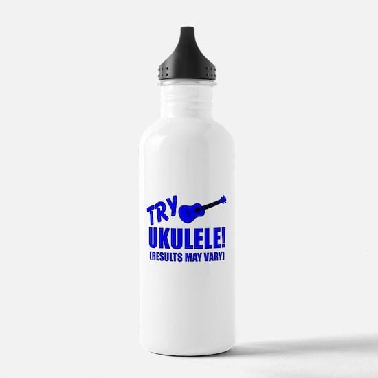 Blue ukulele uke Water Bottle