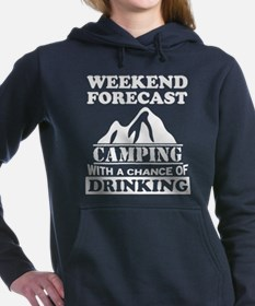 Camping with a chance of drinking Women's Hooded S