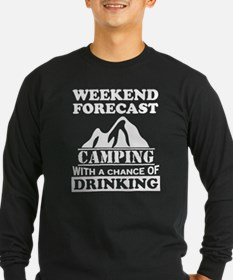 Camping with a chance of drinking Long Sleeve T-Sh