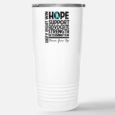 Teal Ribbon Hope Travel Mug